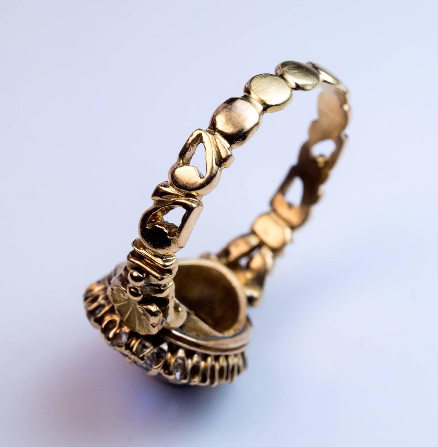 antique sapphire carved gold ring at 1stdibs