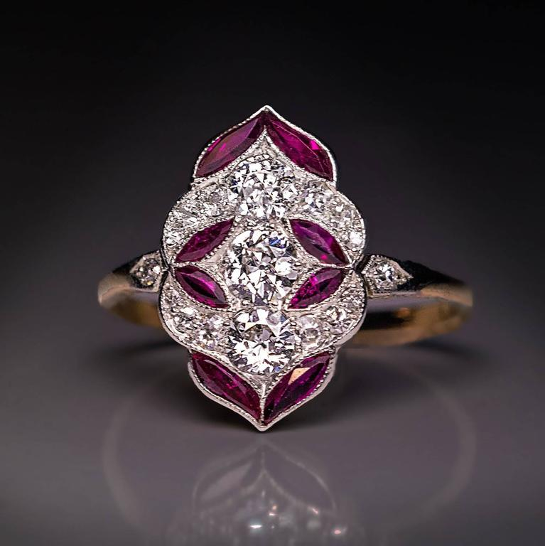 Ruby And Pearl Gold Ring