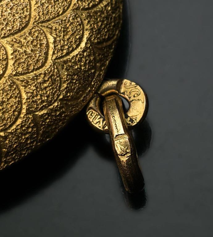 Antique Jeweled Gold Locket Pendant For Sale 1
