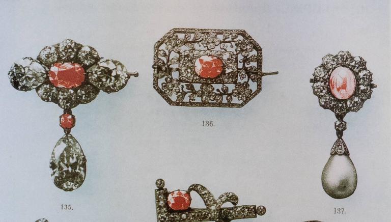 Faberge Antique Natural Pearl Diamond Gold Pendant 8