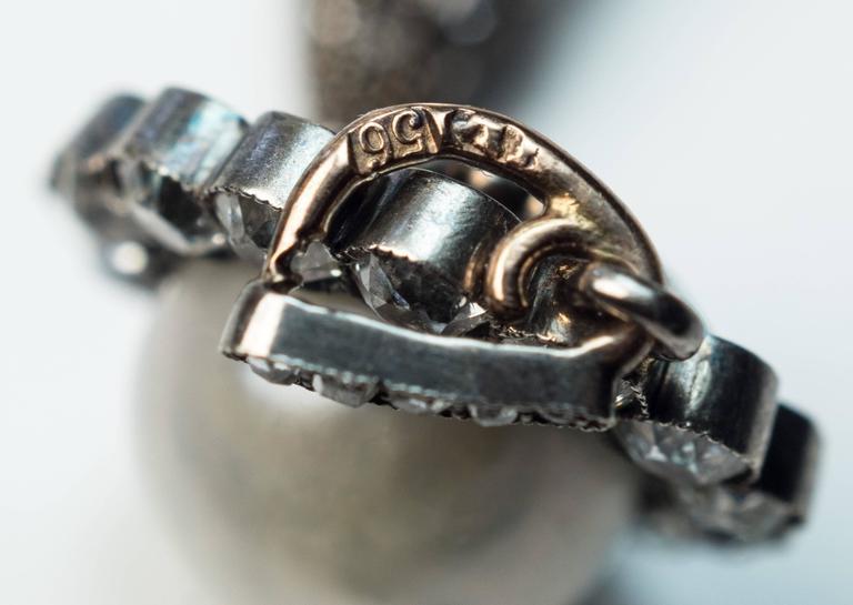 Faberge Antique Natural Pearl Diamond Gold Pendant 10