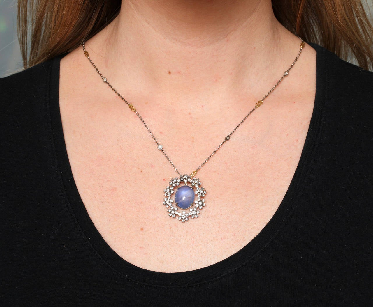Star sapphire radiant diamond gold pendant for sale at 1stdibs star sapphire radiant diamond gold pendant for sale 1 mozeypictures Choice Image