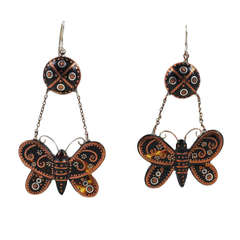 It's Butterfly Season! Victorian Pique Butterfly Earrings