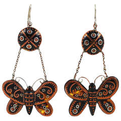 Victorian Butterfly Pique Earrings