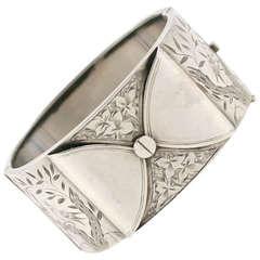 Antique Victorian Silver Cuff Bracelet