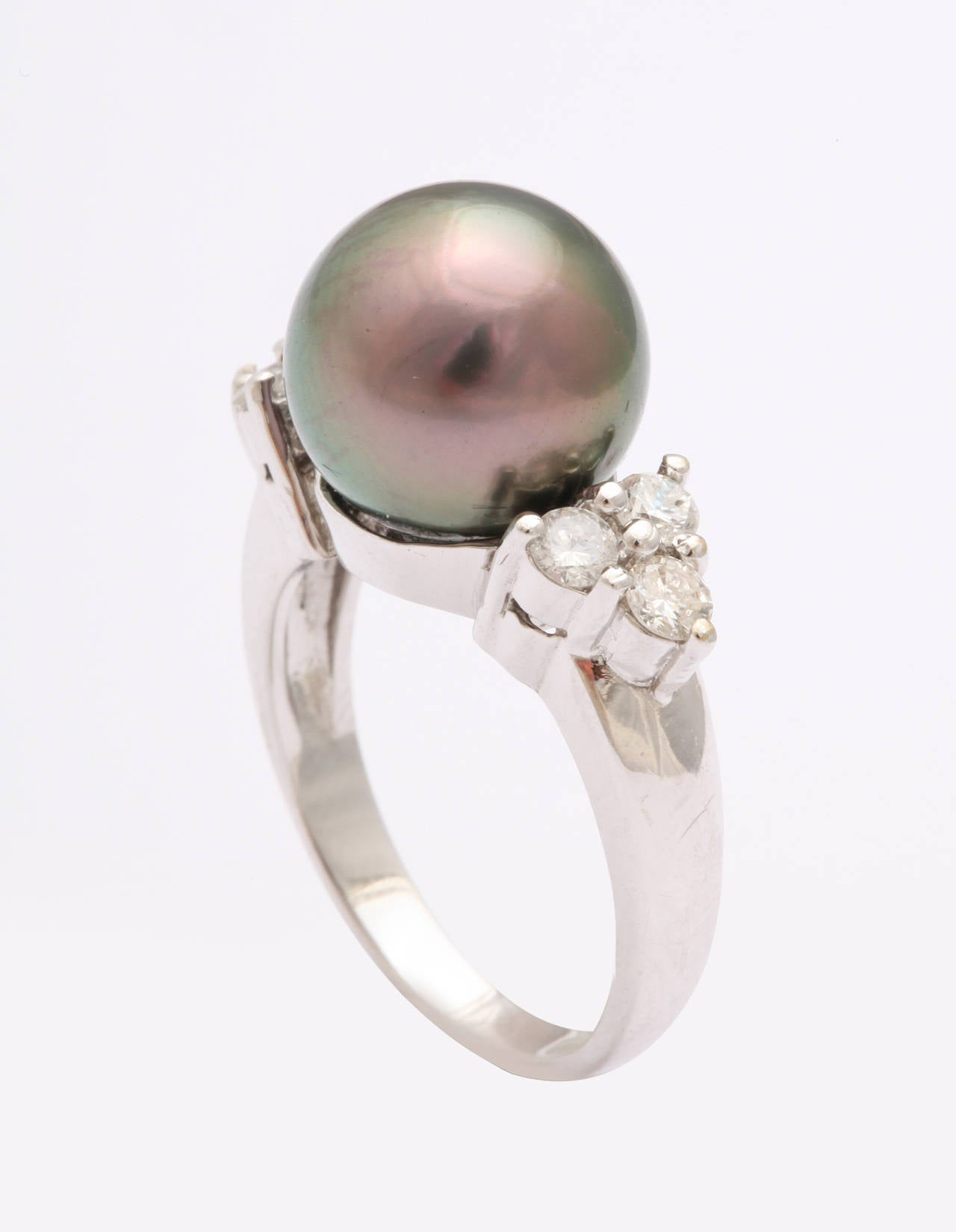 pearl rings bling s yly cute button jewelry engagement freshwater cultured sterling silver real ring cluster cz