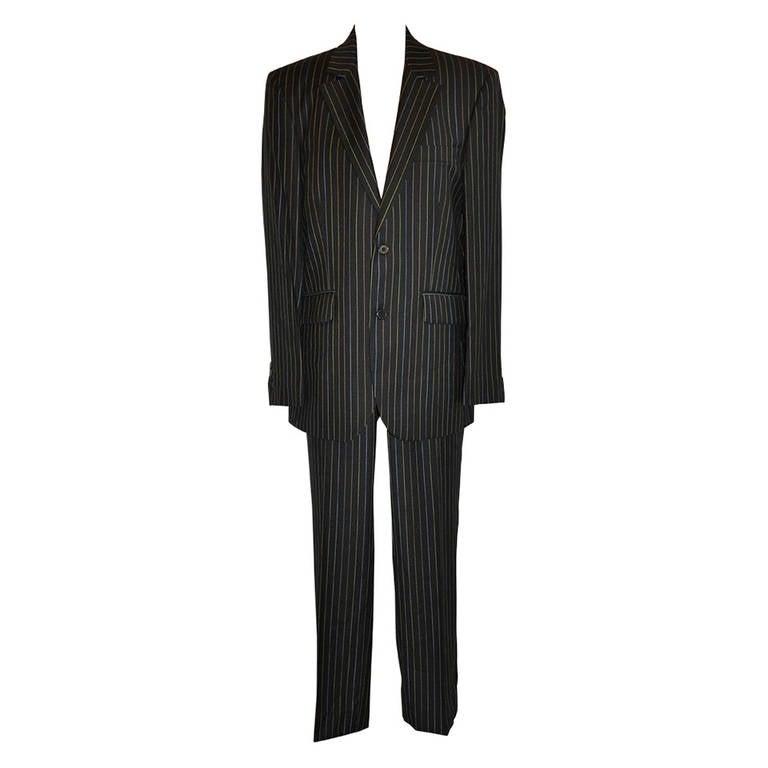 7d10d52161 Christian LaCroix Men s Multi-Color Pinstripe Wool Suit For Sale at ...