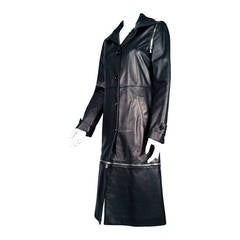 Dolce & Gabbana Sheepskin Zippered Trench Coat