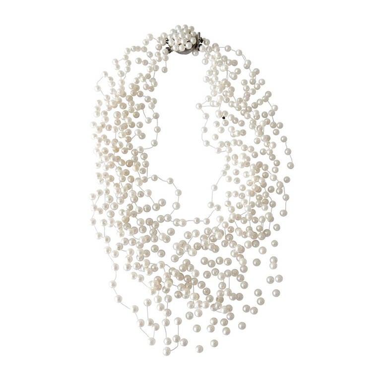 Langani Multi-Strand Pearl Necklace, 1970s 1