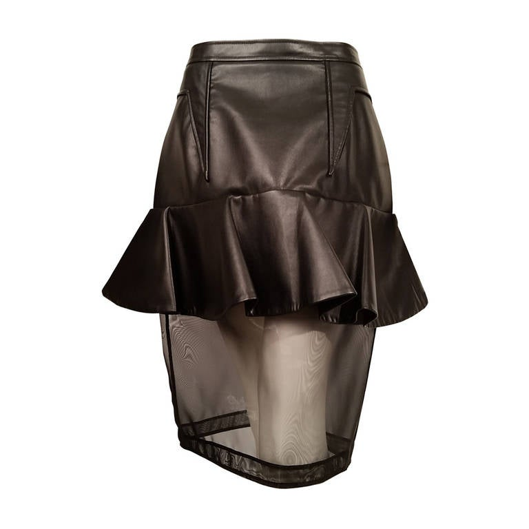 New Givenchy Fashion-Forward Peplum Skirt with Nylon Net Bottom For Sale