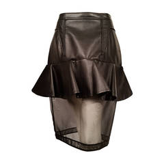 New Givenchy Fashion-Forward Peplum Skirt with Nylon Net Bottom