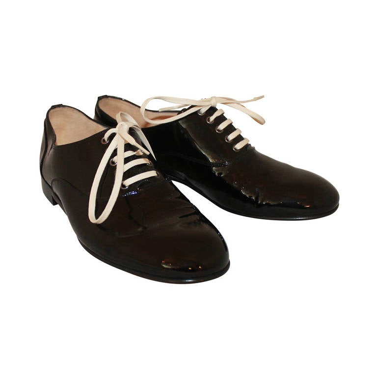 Christian Louboutin Black Patent Oxfords - 38.5 1