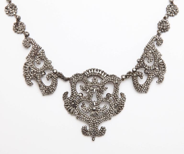1820s Early Cut Steel Necklace  2