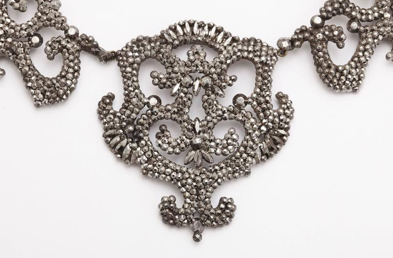 1820s Early Cut Steel Necklace  3