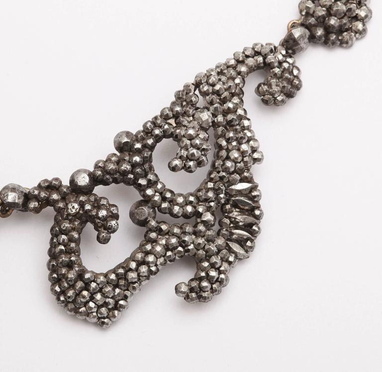 1820s Early Cut Steel Necklace  4