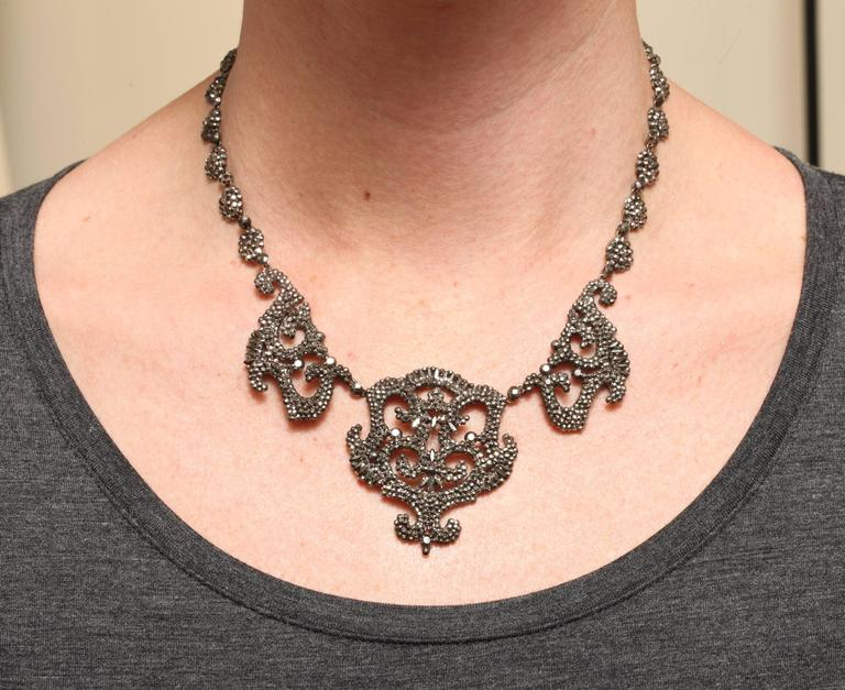 1820s Early Cut Steel Necklace  5