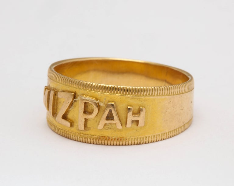 Mizpah 18 Karat Gold Hallmarked Ring Circa 1870 For Sale