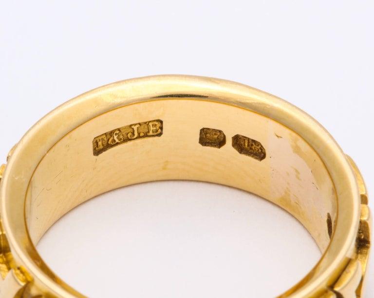 Antique Edwardian Wedding Band Spells Immortal Love, 1909 For Sale 2