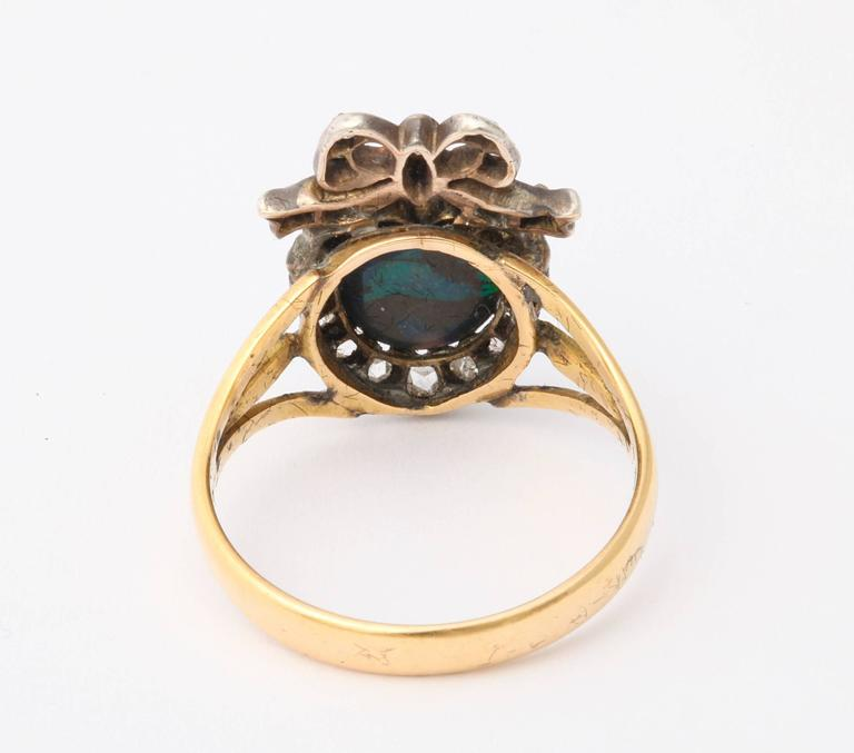 Adoration in a Sumptuous Black Opal Heart Ring For Sale 1