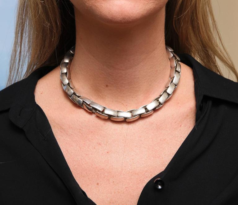 Substantial Robert Lee Morris Sterling Silver Collar 8