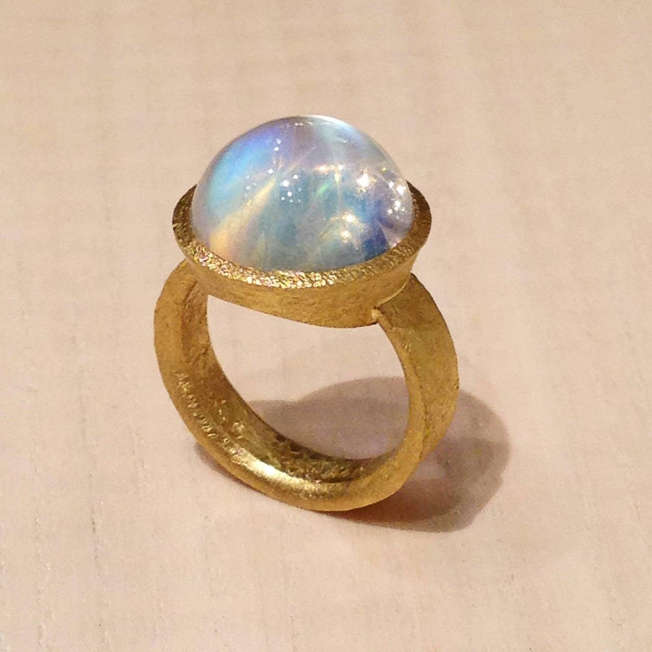 devta doolan exceptional quality rainbow moonstone gold
