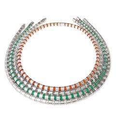 Zimmermann Pearl Chrysoprase Rock Crystal Carnelian Versatile Wrap Necklaces
