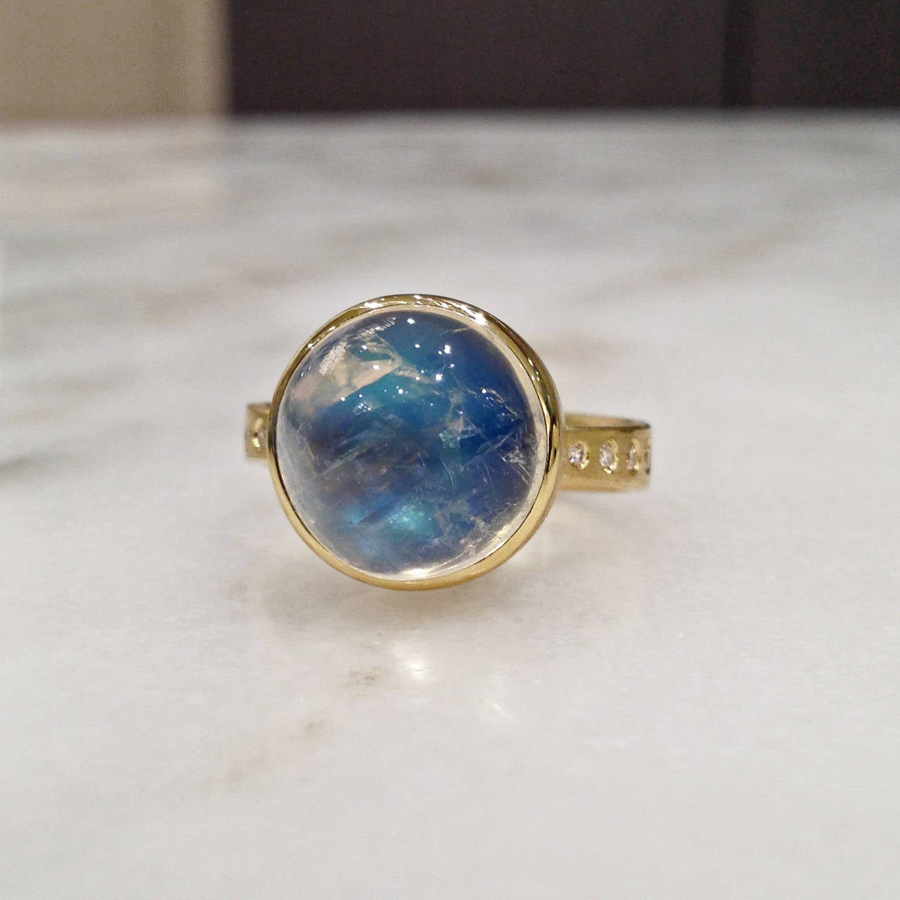 robin waynee blue moonstone white gold button ring