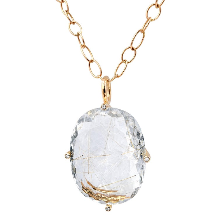 Erich zimmermann golden rutilated quartz white diamond for Golden rutilated quartz jewelry