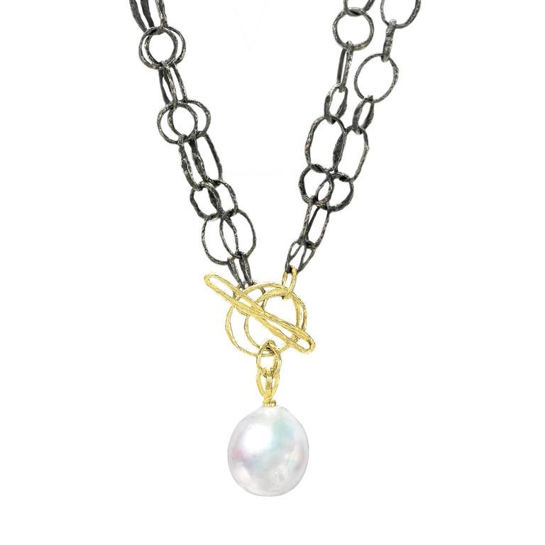 John Iversen South Sea Pearl Double Twig Chain Multi-Length Necklace and Lariat