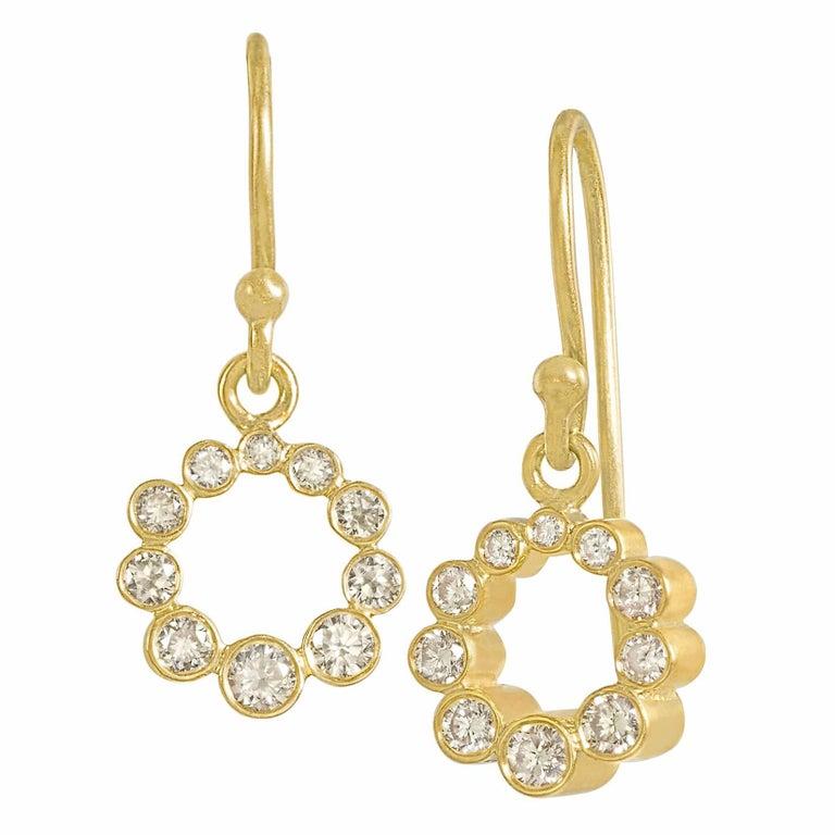 Kothari Shimmering Diamond Rhythm Drop Earrings 1