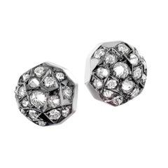Joke Quick Inverted White Diamond Gold Innervisions Stud Earrings