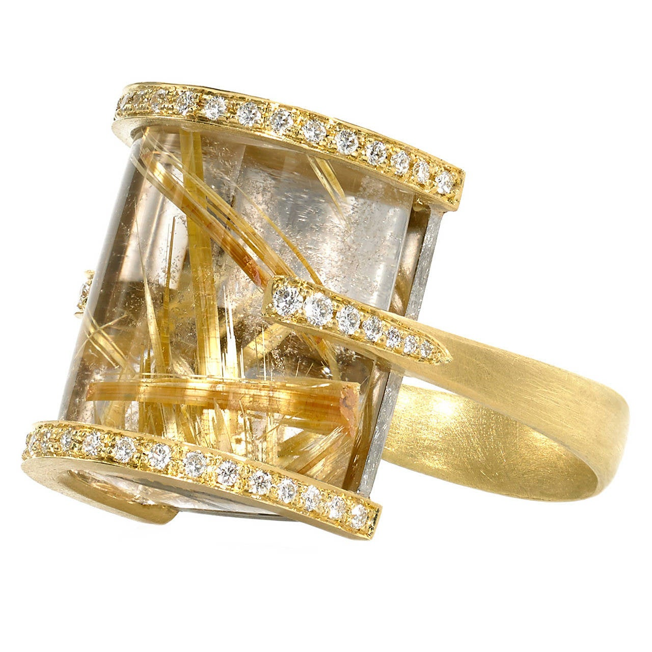 Gold Yellow Quartz Ring