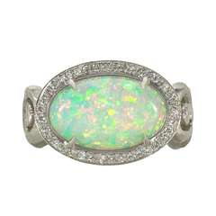 Opal Diamond Fire and Ice Ring