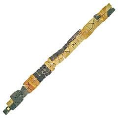 John Iversen Intricate Museum-Quality Mixed Gold Bracelet