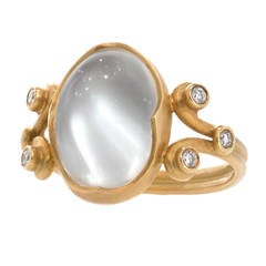 Anahita Moonstone Diamond Gold Platinum Heavenly Ring