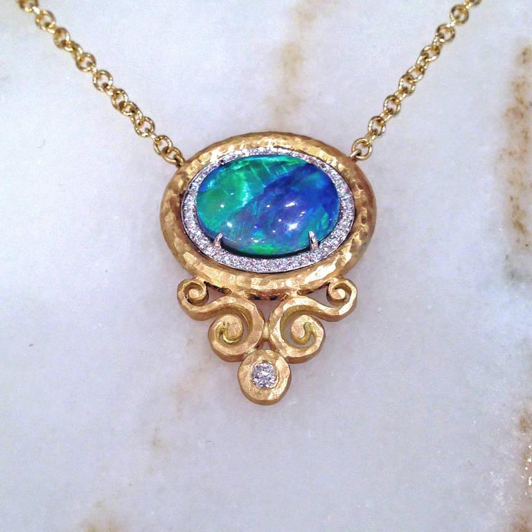 froman lightning ridge black opal gold