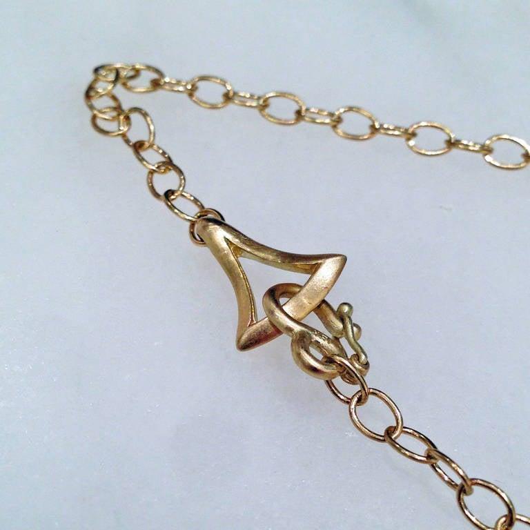 Extraordinary Iridescent Lemon Quartz Mother-of-Pearl Diamond Gold Necklace For Sale 4