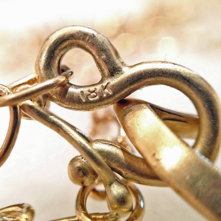Extraordinary Iridescent Lemon Quartz Mother-of-Pearl Diamond Gold Necklace For Sale 5
