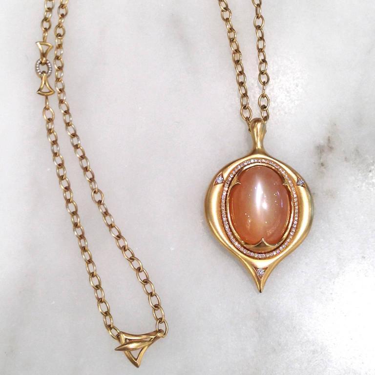 divine glowing cat 39 s eye peach moonstone white diamond