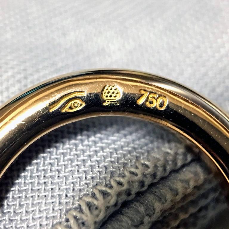 Erich Zimmermann Custom Cut Pale Blue White Topaz Gold Solitaire Princess Ring For Sale 2