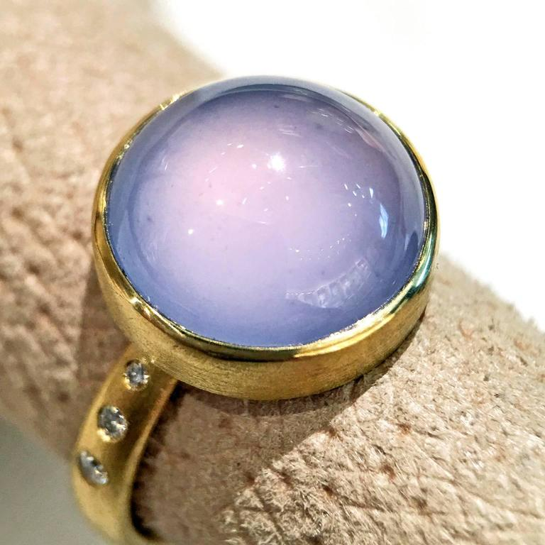 the russian store rings blue chalcedony ring