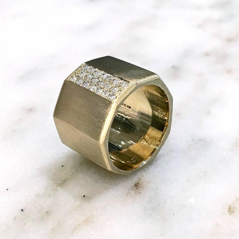 satin gold satin gold handmade facet bolt band