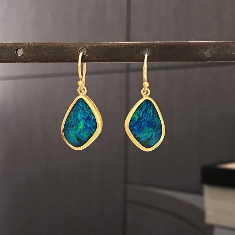 One Of A Kind Drop Earrings Handcrafted By Jewelry Artist Petra Cl Featuring Two