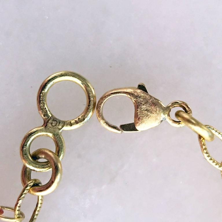 Barbara Heinrich Multicolored Sapphire Faceted Briolette Gold Petals Bracelet In New Condition In Dallas, TX