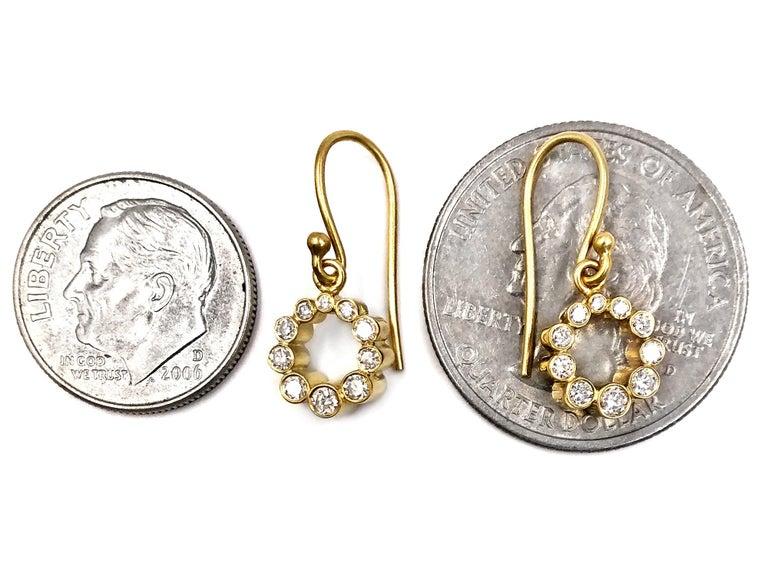 Artist Kothari Shimmering Diamond Ascending Tube Rhythm Drop Earrings For Sale