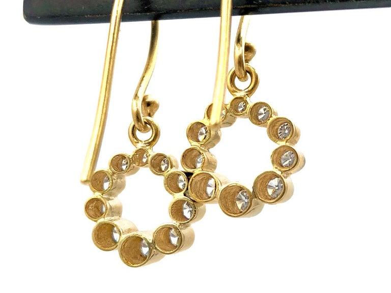 Round Cut Kothari Shimmering Diamond Ascending Tube Rhythm Drop Earrings For Sale