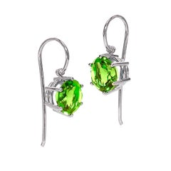 Erich Zimmermann Germany Matched Green Peridot Gold Handmade Princess Earrings
