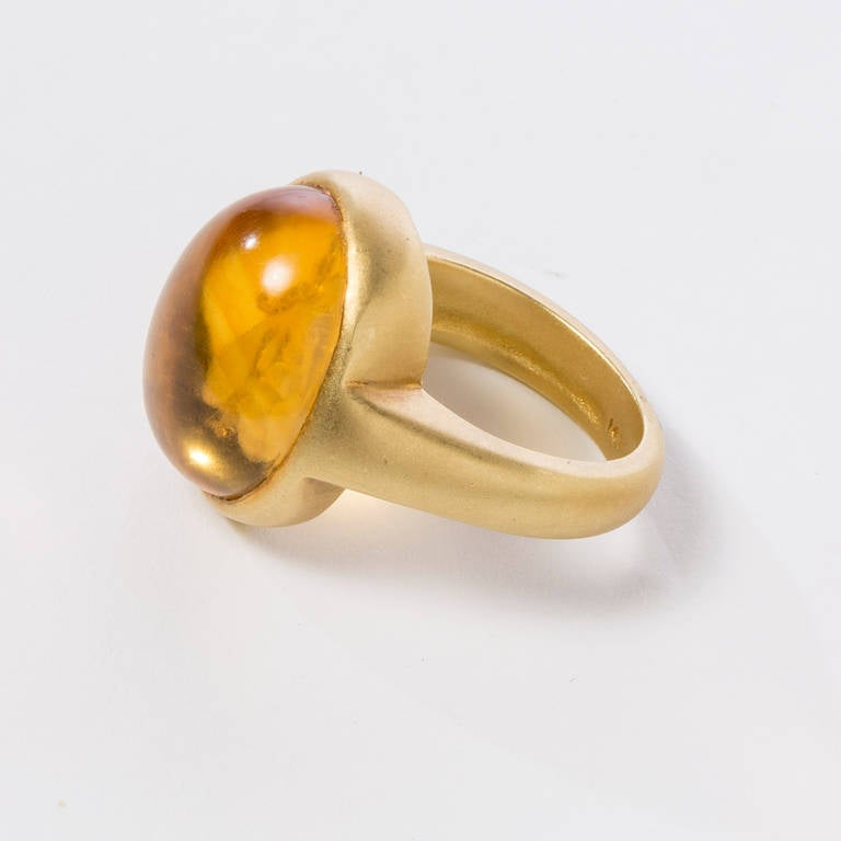 Citrine Gold Bee Intaglio Ring 2