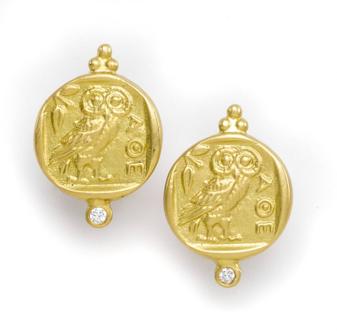 Athena Gold Earrings 2