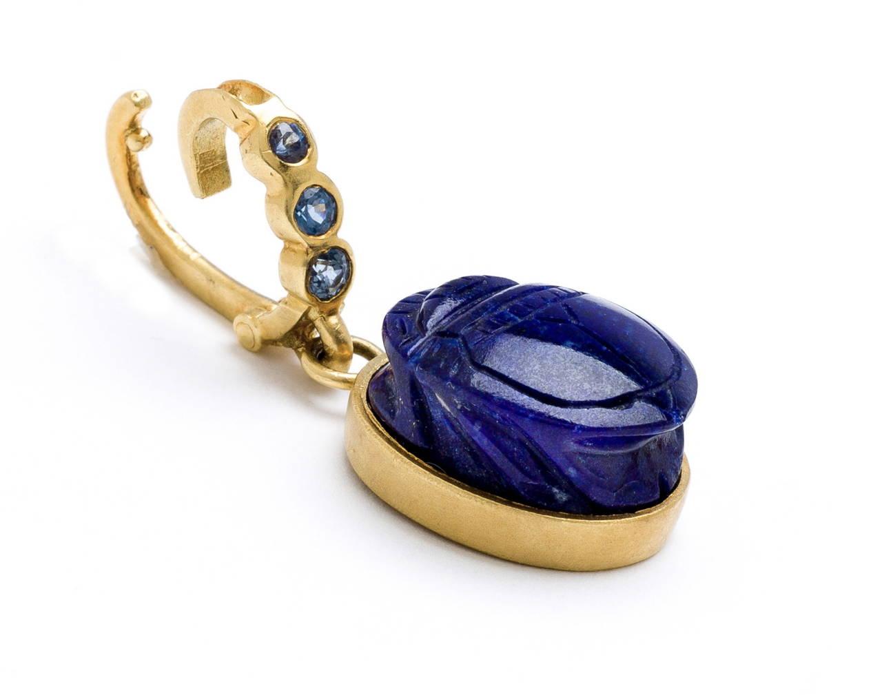 Lapis Lazuli Scarab Pendant 2